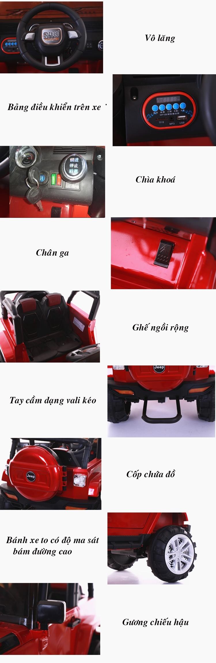 chi tiết  xe ô tô điện trẻ em BJQ 6688.